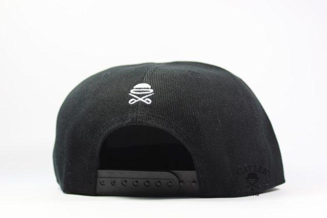 кепка бейсболка CAYLER SONS рэперка черная с березовыми козырьком