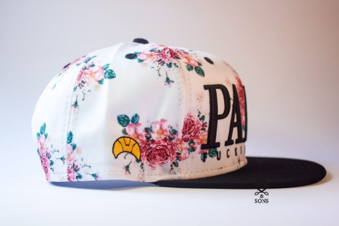Snapback Cayler and Sons PARIS FUCKIN CITE  кепка с цветами купить