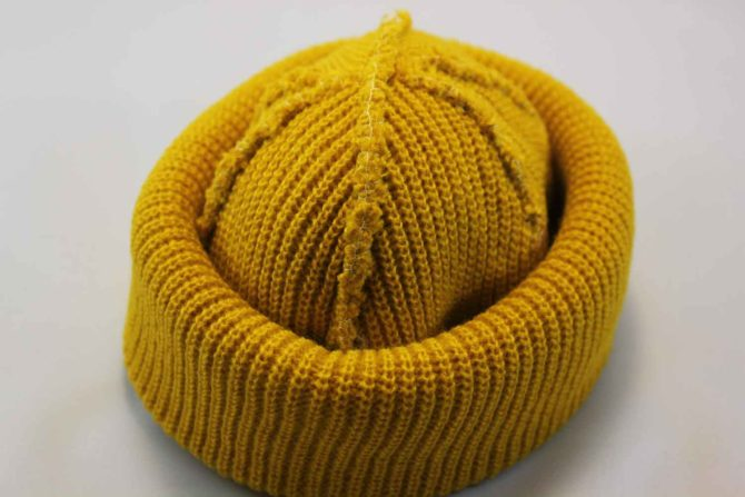 короткая шапка шапка beanie MONATIK ASOS желтая yellow купить Украина