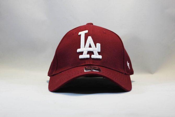 кепка бейсболка LA Los Angeles 47 New Era бордовая