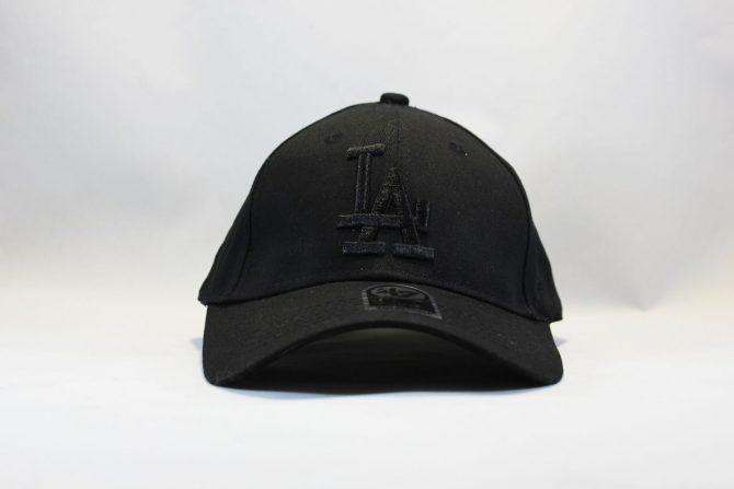 кепка бейсболка LA Los Angeles 47 New Era черная на черном