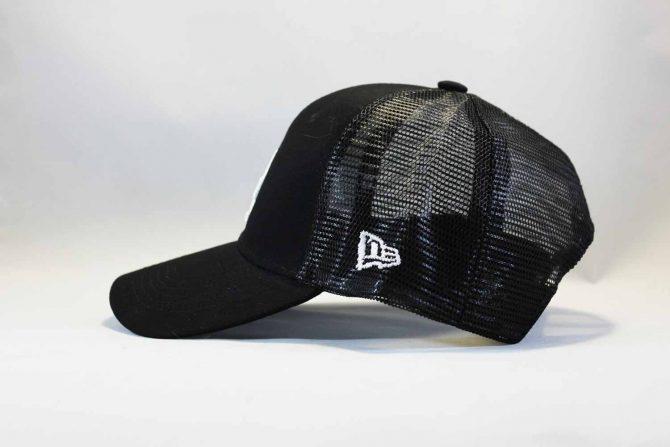 летняя купить кепка бейсболка trucker LA Los Angeles New Era черная сеточка