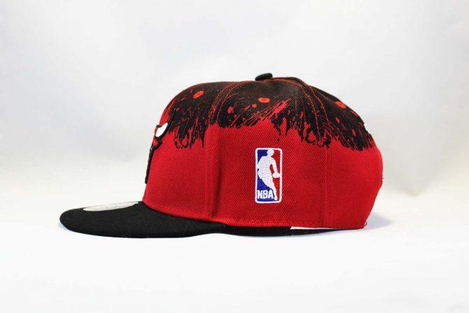 nba баскетбольная кепка Snapback Chicago Bulls Red Black New Era черная с крастным