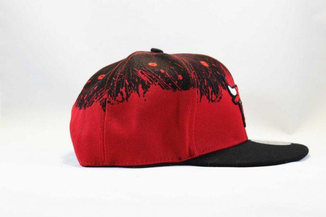 реперская бейсболка кепка Snapback Chicago Bulls Red Black New Era черная с крастным