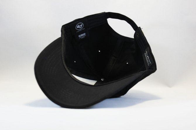 закругленная кепка бейсболка LA Los Angeles 47 New Era черная на черном