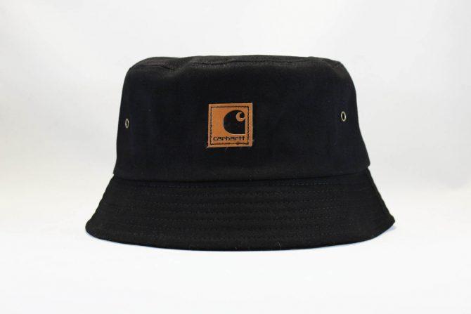 панама Carhartt black кожаный логотип купить
