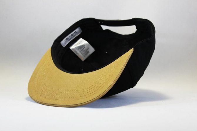 Carhartt купить Украина кепка snapback Carhartt черно-коричневая с кожаным логотипом