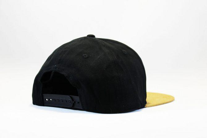 заказать с доставкой кепка snapback Carhartt черно-коричневая с кожаным логотипом