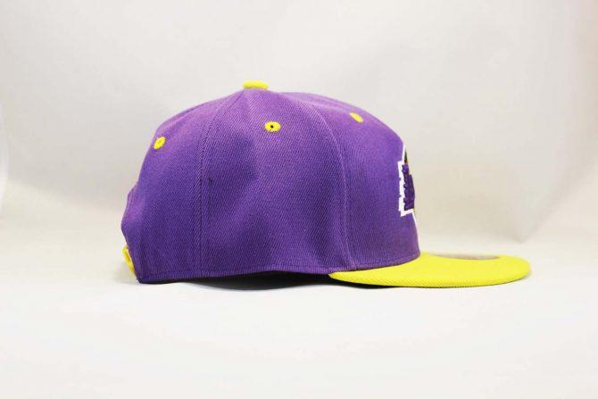 феолетовая сиреневая кепка snapback los angeles Lakers New Era классическая купить